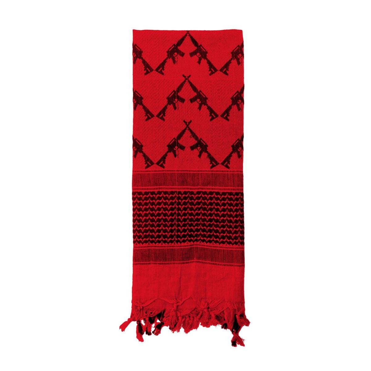 Rothco Crossed Rifles Shemagh Tactical Scarf, Red