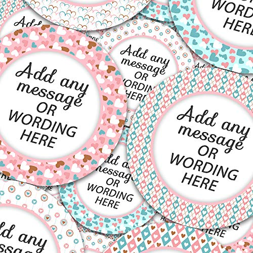 Gift Sticker Hearts Personalized Sticker Labels (12 Stickers @ 2.5
