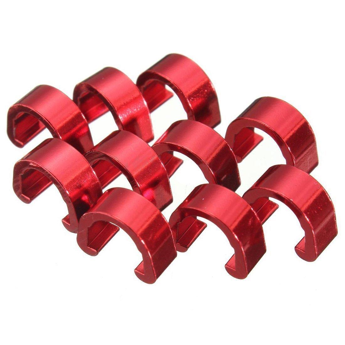 C-Clip - SODIAL(R)C-Clip 10pcs Snap Tubes Brake Hose Guide MTB BMX bike Color: Red