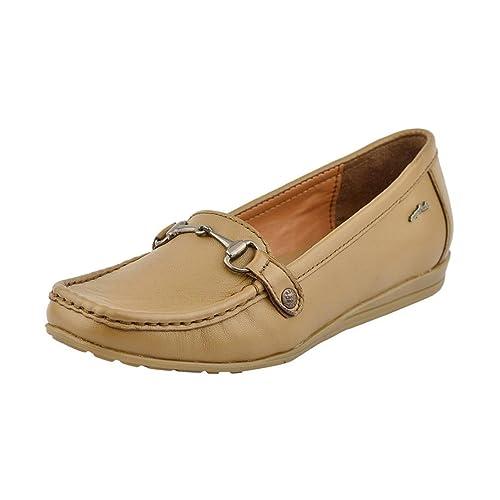 Lf9005-Tan Flat Loafers 8 UK Brown
