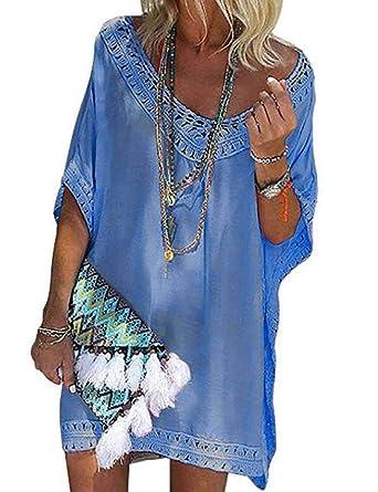 3417c0994d UMIPUBO Robe de Plage Pareo Femme Plage Creux Elégance Maillot de Bain  Cache Maillots Couvrir Bikini