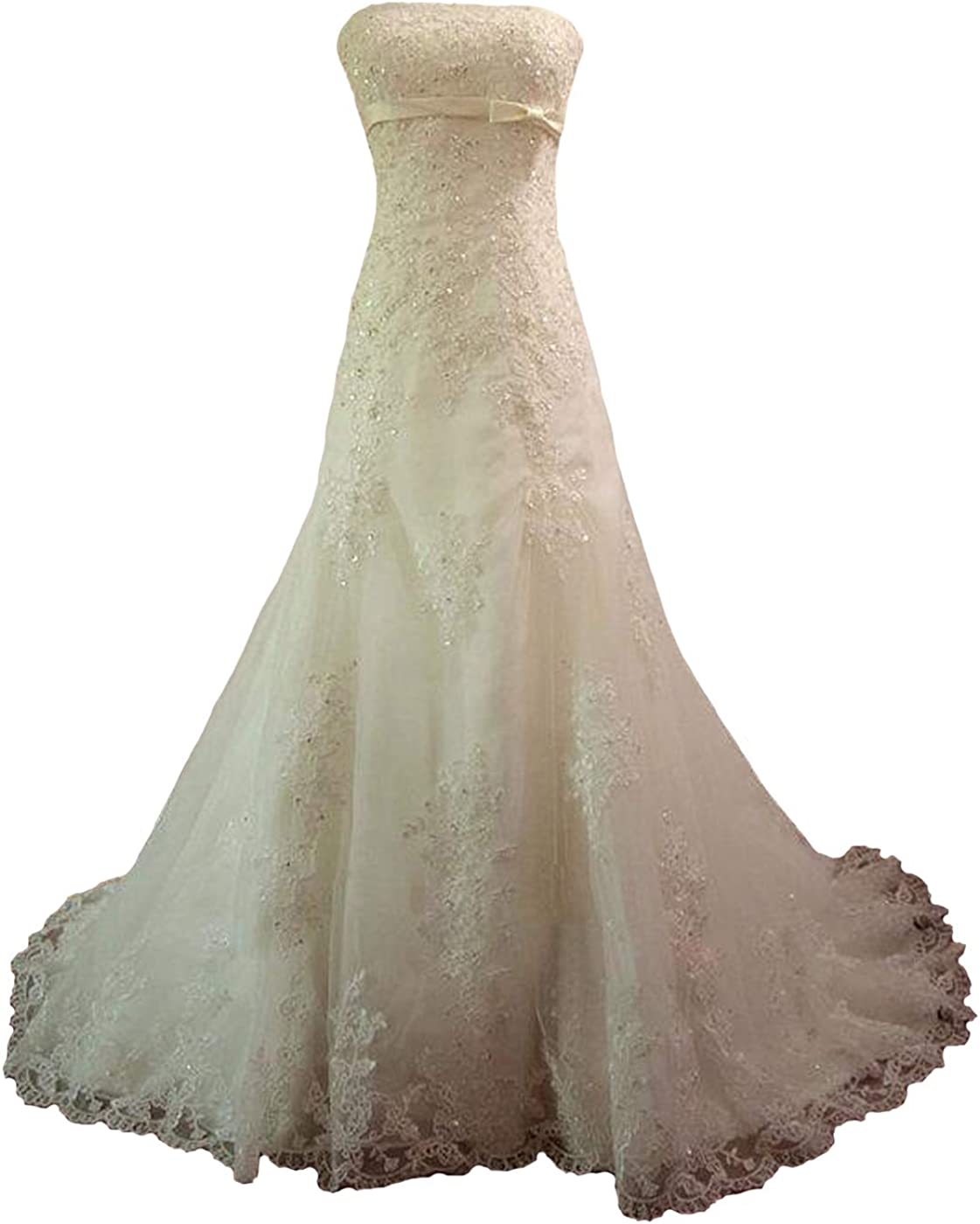 Fair Lady Strapless Max 20 OFF Lace Tulle Mermaid Wedding for ...