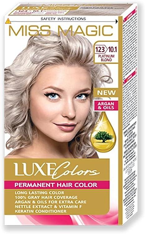 Tinta para pelo Miss Magic Tinte Rubio Platino Hair Colour con Argan