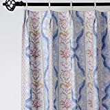 """25 Sizes Available (Set of 1 panel) (42""""W x 102""""L) Tab Top Print Symmetrical Baby Blue Floral Blackout Lining Window Treatment Draperies & Curtains Panels"""
