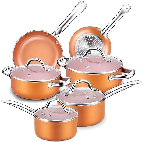 Amazon.com: Juego de utensilios de cocina. Mejor 10 piezas ...