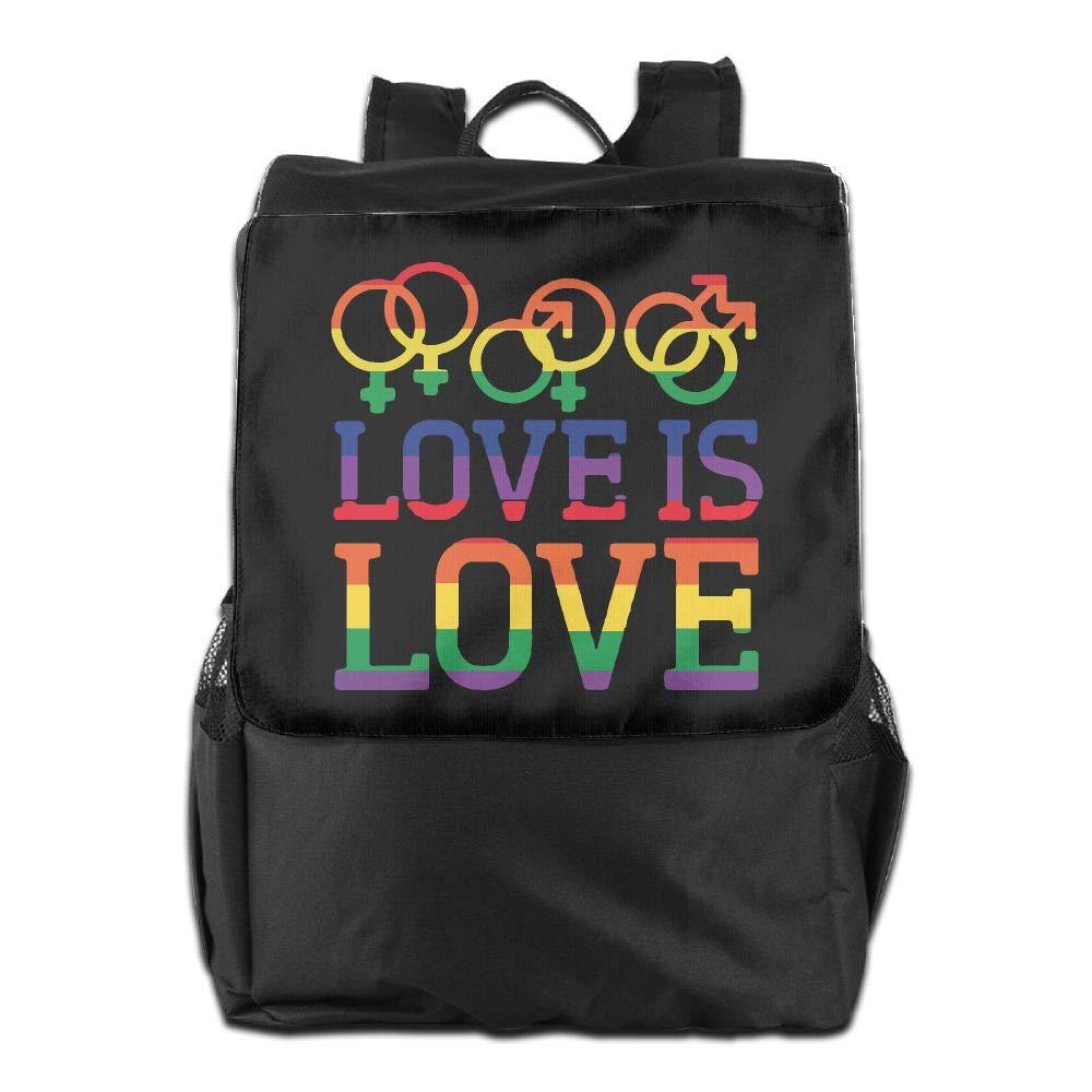 Louise Morrison Love Is Love Rainbow Gay Lesbian Pride Women Men Laptop Travel Backpack College School Bookbag