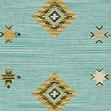 Stone & Beam Casual Geometric Cotton Area Rug, 5 x