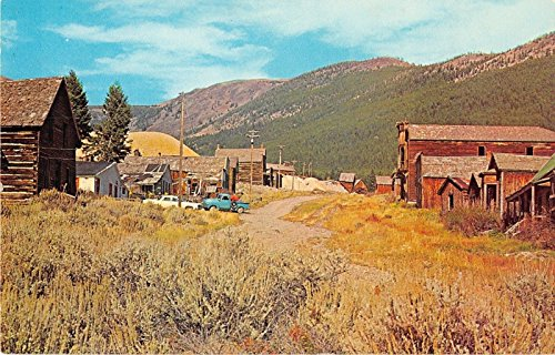 Elkhorn City Montana Ghost Town Dirt Road Vintage Postcard J16079