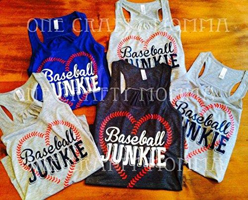 Junkie Baseball (Baseball Junkie, Baseball Junkie Shirt, Baseball Junkie Tank- Racerback Tank)