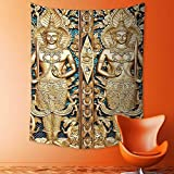 Wall Decor Tapestries Collection Thai Gate at Wat Sirisa Tong Thailand Buddhism Architecture History Spiritual Picture Tapestry Coverlet Curtain
