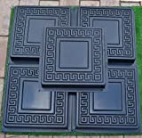 Set 5pcs PLASTIC MOLDS CASTING CONCRETE PAVING GARDEN PATH PAVEMENT STONE PATIO #S01