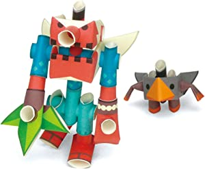 PIPEROID Paper Pipe Robot Tengking & Tsubuten Goblin & His Apprentice - Japanese Paper Craft Building Models from Paper Sticks - Perfect for Art & Origami Fans and Birthday Party Favors