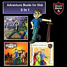 Adventure Books for Kids: 3 Super Cool Stories for Kids in 1 Audiobook by Jeff Child Narrated by John H Fehskens