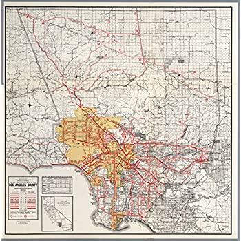 Map Poster - Los Angeles County. - 24