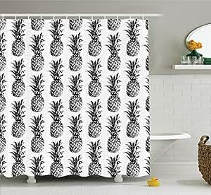 Amazon Ambesonne Pineapple Decor Shower Curtain Set Artistic