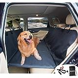 AMOCHIEN Back Seat Extender for Dogs - Backseat Pet Bridge, Dog Hammock Covers Entire Back Seat, Rear Pet Foam Platform Divid