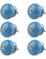 Perillas de Muebles conjunto surtido 6 piezas multicolore No. 037GN Azul - Perilla de los
