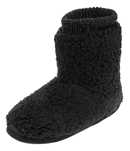 fc5eef8771b2a Women's Comfort Warm Faux Fleece Fuzzy Ankle Bootie Slippers Plush Lining  Slip-on House Shoes Anti-Slip Sole Indoor/Outdoor