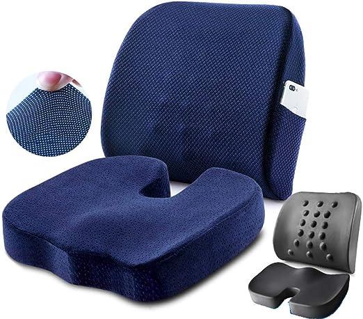 Gogdog Office Chair Coccyx Cushion Car Seat Pillow Tailbone Memory Foam Pad for Home