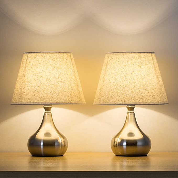 Haitral Small Bedside Table Lamps Set Of 2 Unique
