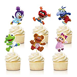 24 Decorations for Muppet Babies Cupcake Toppers Birthday Party Supplies Decor for Children