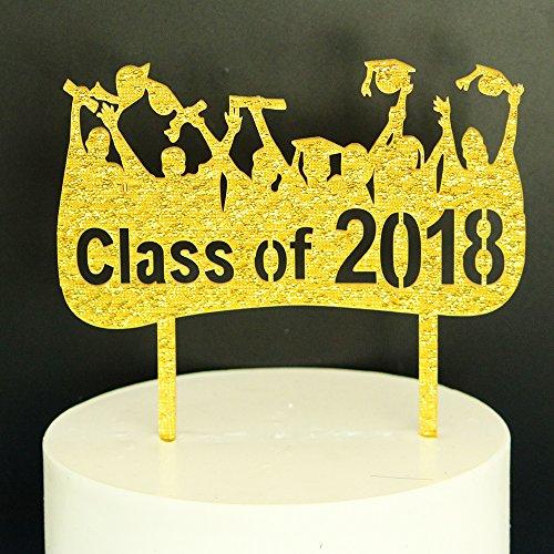 Food Kindergarten Graduate (Class Of 2018 CakeTopper-Graduation Cake Topper-Grad Party Decorations)