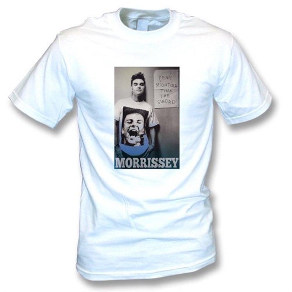 La La La pluma de Morrissey es más poderosa que la camiseta Xx-Grande, blanco de la espada del color 25f2bd
