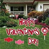 Valentine's Day - Yard Decoration - Happy Valentine's Day with Candies (set of 11 with 19 short stakes)