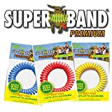Superband PREMIUM Insect Repellent Bracelet: Assorted Colors – Red, Blue, & Yellow (10 Pack)