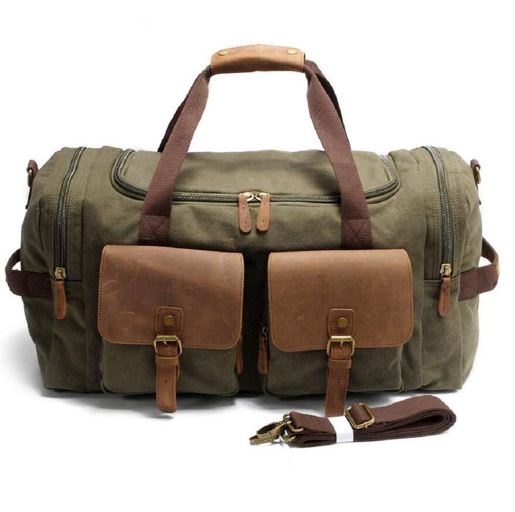 BEI Outdoor Rucksack Outdoor 36-55L Kapazität Gepäck Tasche Leinwand Schulter Messenger Bag Handtasche, mit Zwei Taschen, langlebig Verschleiß Anti-Scratch Handtasche