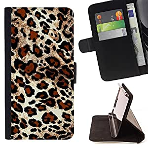 - Leopard Print Fur Imitation - Estilo PU billetera de cuero del soporte del tir???¡¯????n [solapa de cierre] Cubierta- For Apple Iphone 6 PLUS 5.5 £¨ Devil Case £©