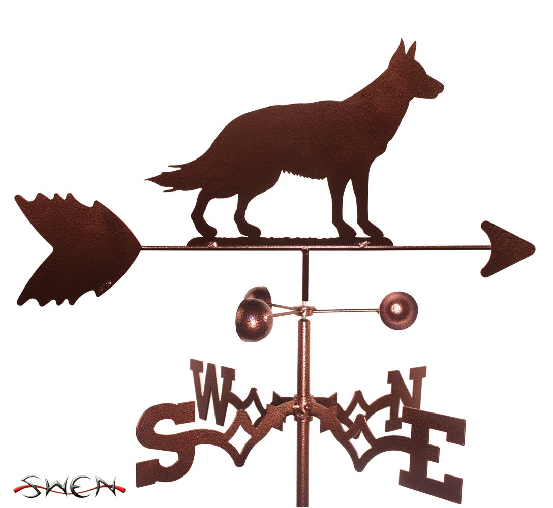 Hand Made GERMAN SHEPHERD DOG SIDE Mount Weathervane NEW SWEN Products