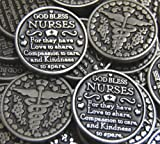 Set of 10 God Bless Nurses Pocket Token Coins