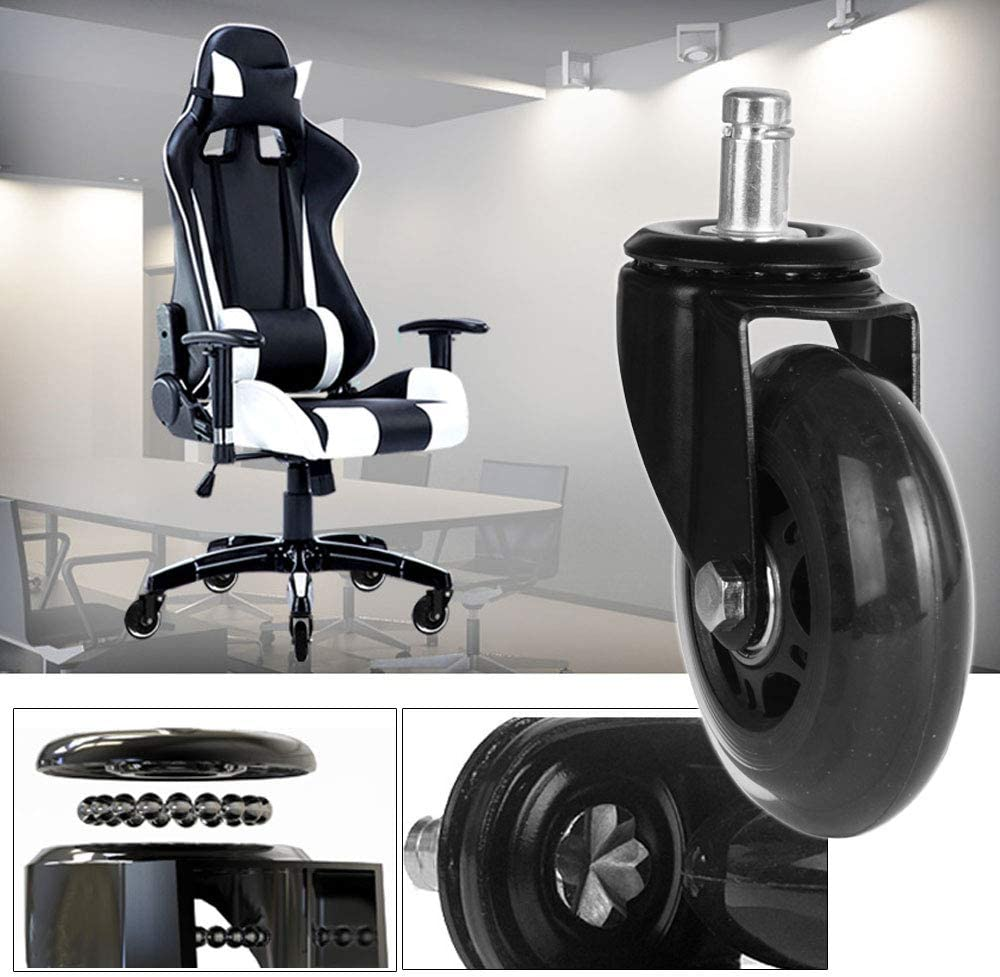 Enjoy 65mm Mesh Gaming Chair Wheels Replacement PU Castor-Green Set of 5 65F1BGUAG-23