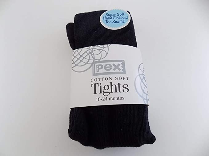 Pex Cotton Soft Tights Colour Black 5-7 years