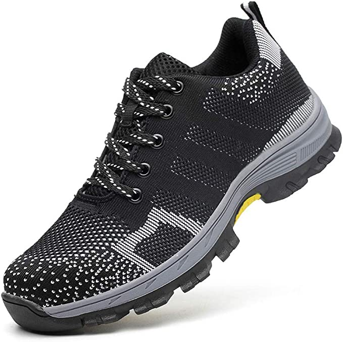 LXHK Zapato de Seguridad Deportivo, Transpirable Ligeras Comodas Calzado de Industrial y Deportiva, Botas de Protección con Puntera de Acero, Senderismo Unisex: Amazon.es: Zapatos y complementos