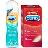 Durex Play Tingle - 50ml with Free Durex Condoms - 10s (Feel Thin)