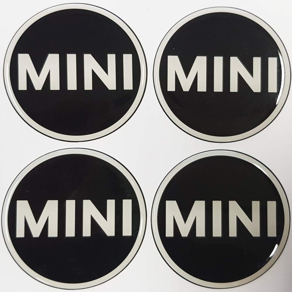 Round emblems 4 x 56 mm made of silicone quick dispatch from Germany item MINI56