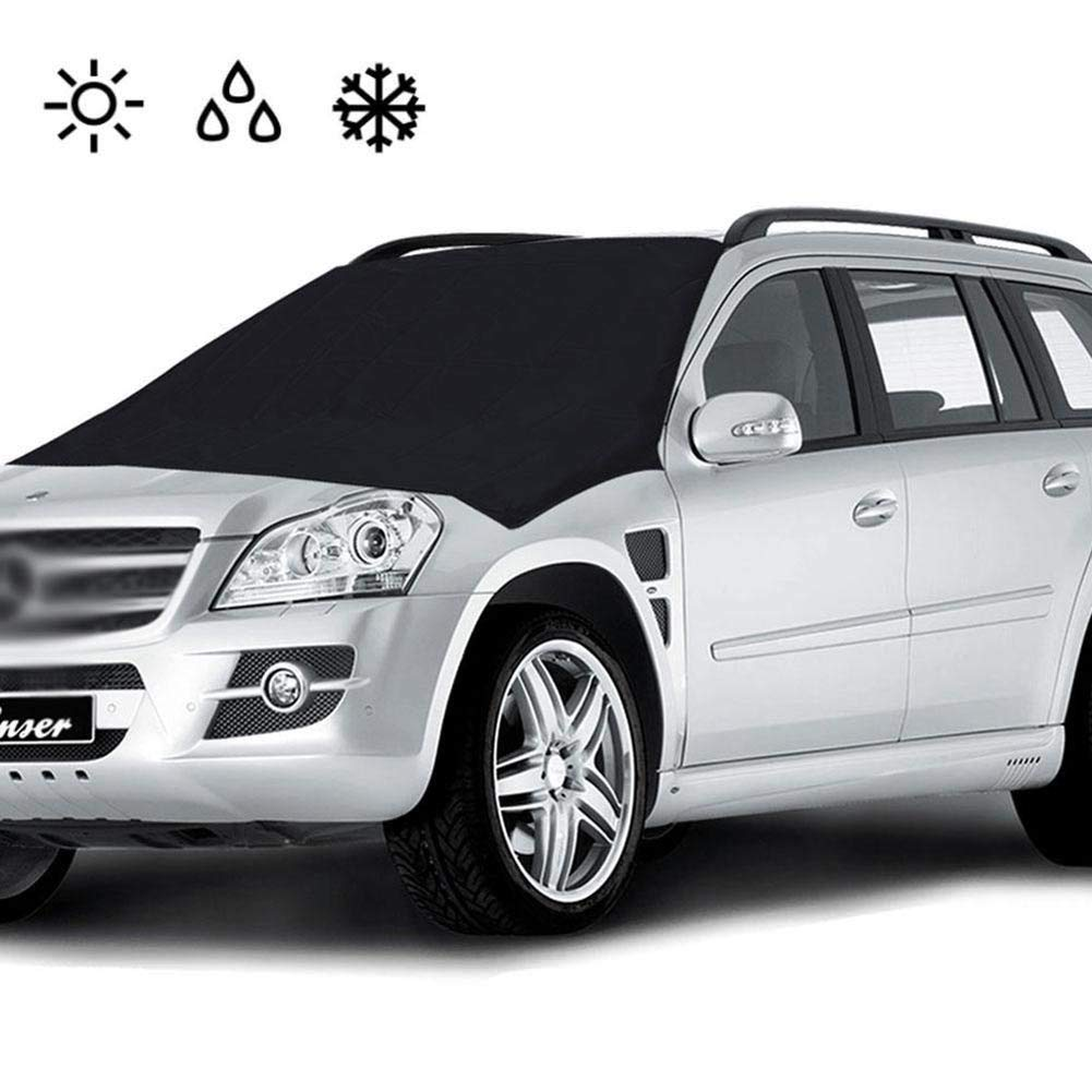 Tofree Universal Auto Magnet Windschutzscheibenabdeckung Sonnenschutz Frost Antibeschlagschutz Windschutzscheibe Schutz Windschutzscheibe Schnee Abdeckung