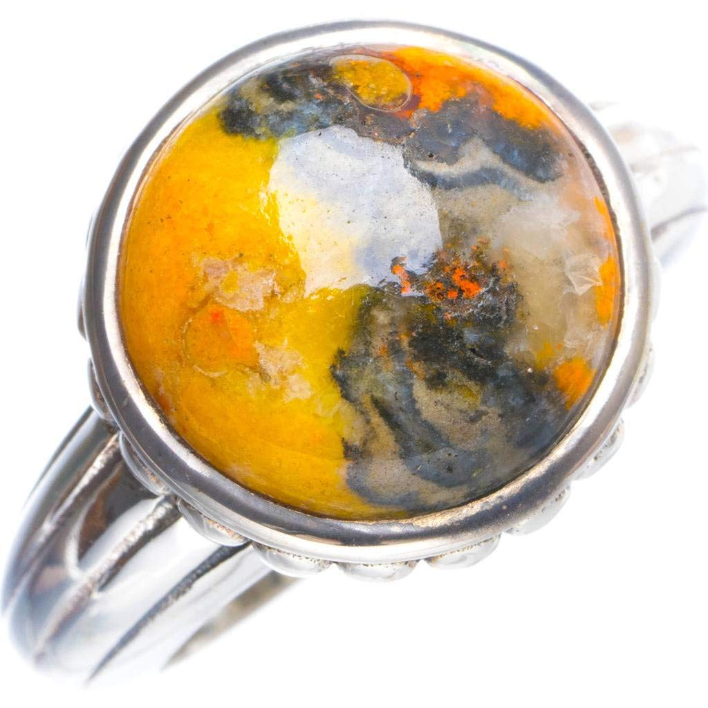 Natural Bumble Bee Jasper Handmade Unique 925 Sterling Silver Ring 6.75 Y4380