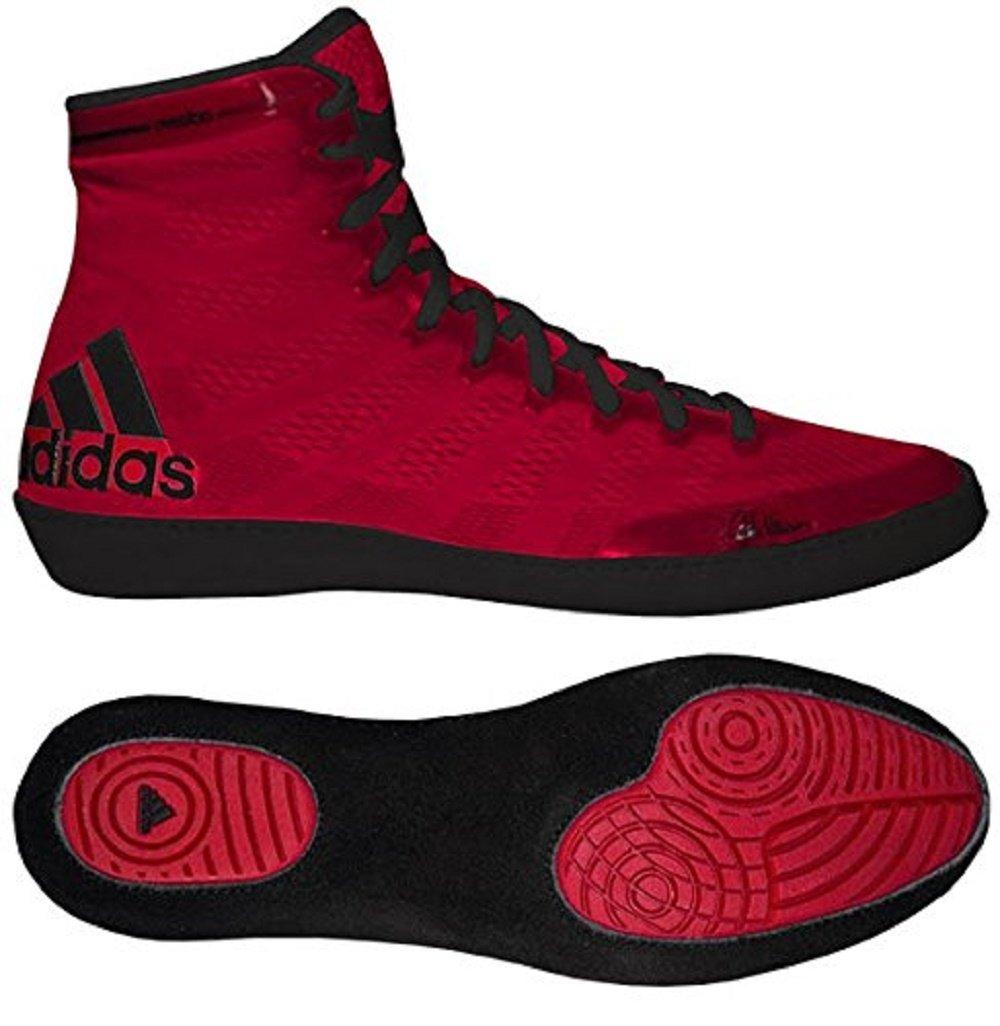 adidas Adizero Varner Wrestling Shoes - Red/Black - 9 by adidas