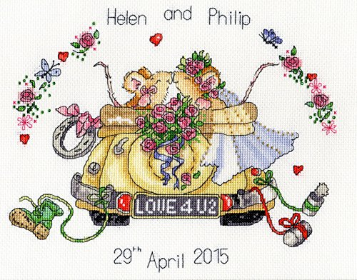 Bothy Threads Just Married (Margaret Sherry) Cross Stitch Kit ()