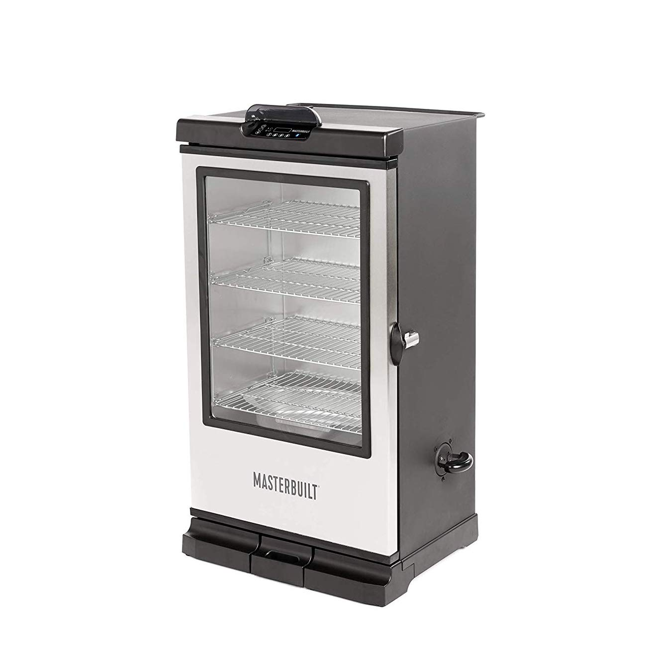 Masterbuilt MB20076718 Bluetooth Electric Smoker 240G Digital, Black with SS Door by Masterbuilt