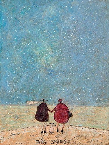 El Arte Grupo Sam Toft Lienzo de Gran Cielo, algodón, Multicolor, 1,8 x 30 x 40 cm: Amazon.es: Hogar