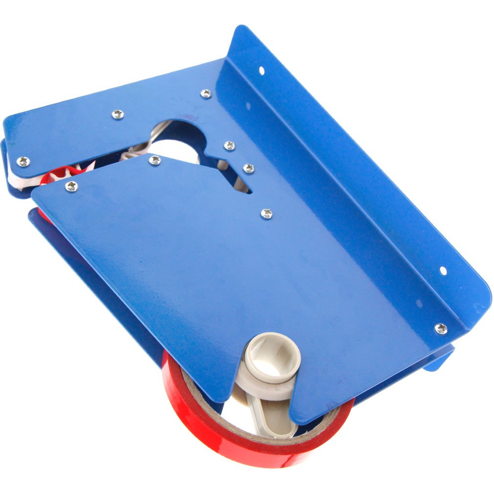 New Metal Blue Colours Trimming Blade Plastic Bag Neck Sealer with 2 Rolls Tape by SING F LTD (Image #2)