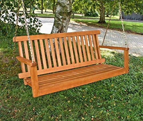 Gartenbank Hängebank 2-Sitzer, Eukalyptus FSC-Holz geölt