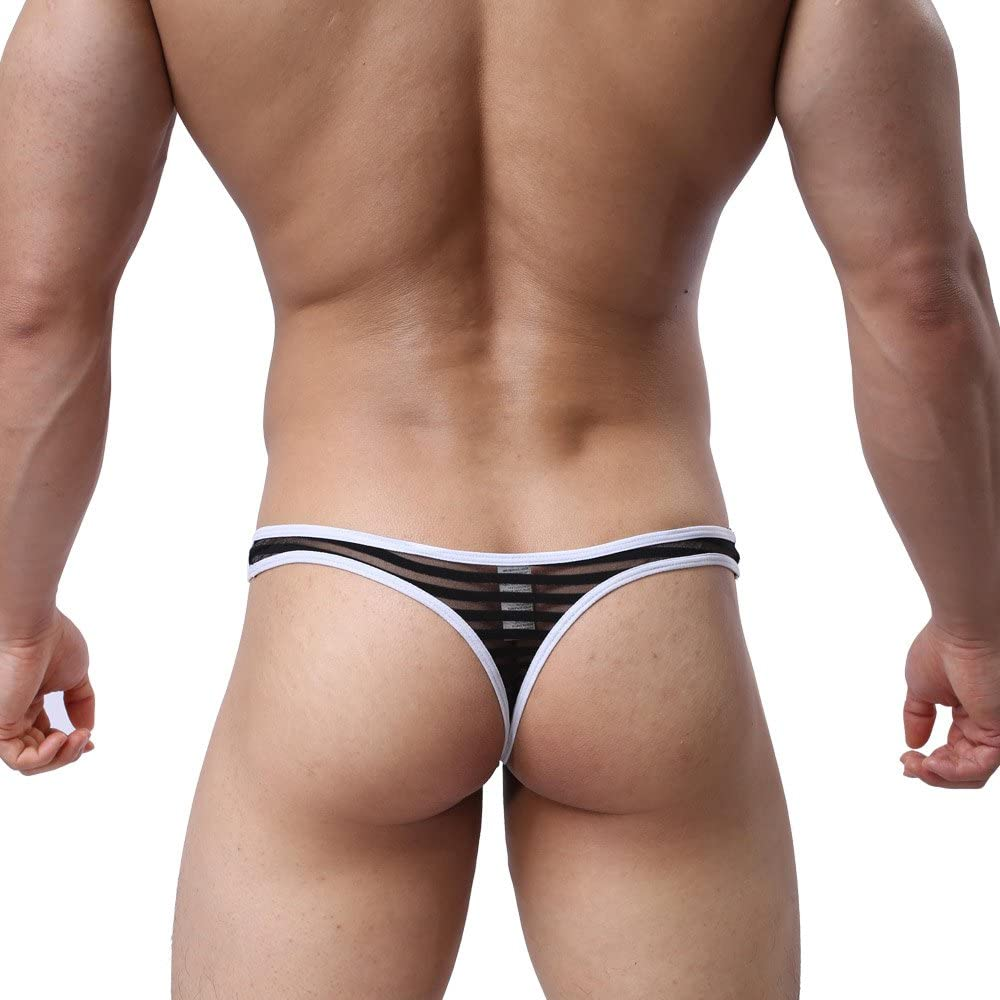 MuscleMate UltraHot Mens Thong Mens G-String Comfort Thong Low Raise Underwear Honey Bubble