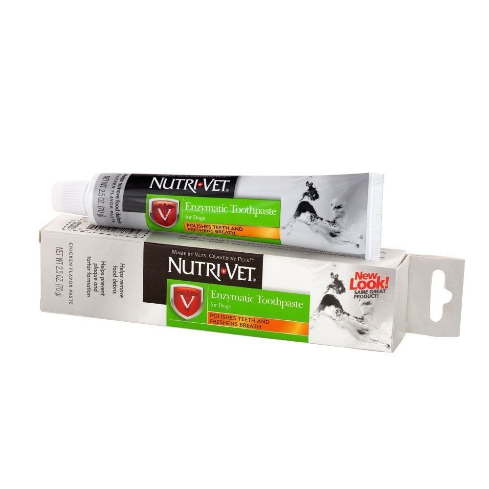 Nurtri-Vet Toothpaste For Dogs Oral Dental Care Tarter Plaque Enzymatic 2.5 oz