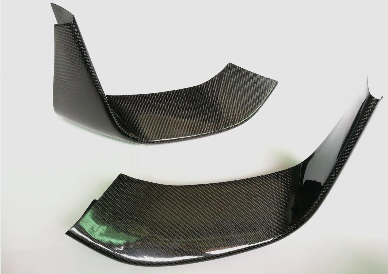 For BMW F8X M3 M4 M Performance Style Carbon Fiber Front Bumper Lip Flaps DeLUXE Carbon