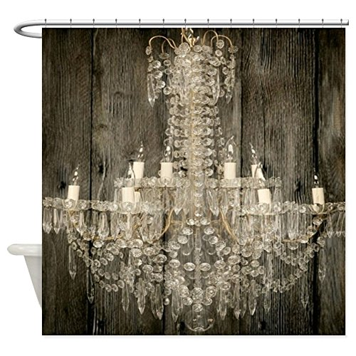 """CafePress Shabby Chic Rustic Chandelier Decorative Fabric Shower Curtain (69""""x70"""")"""